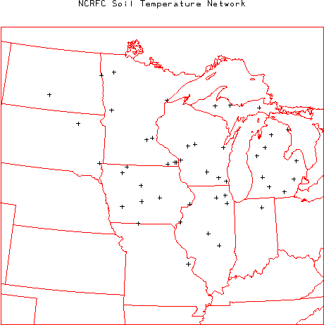 Missouri Hydrometeorological Networks - Us soil temperature map